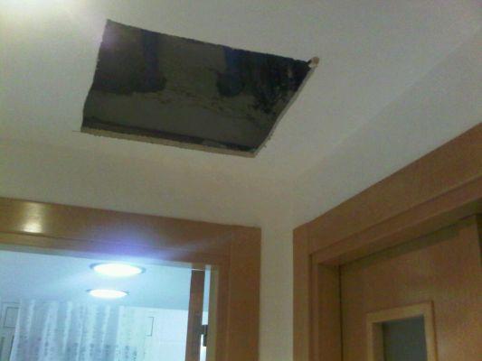 Presupuesto para tapar 4 agujeros pladur en techo cocina - Tapar agujero techo ...