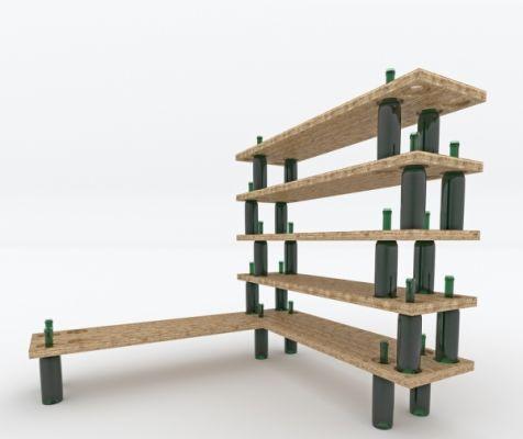 Presupuesto para hacer estanter a de madera y botellas en - Como hacer estanterias de madera ...