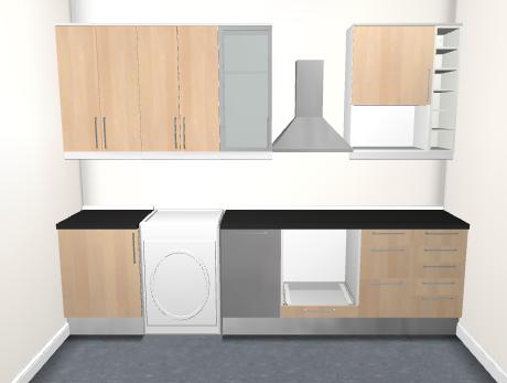 Presupuesto para instalacion de cocina ikea 3 metros for Cocina 3 metros pared