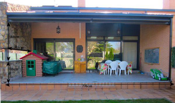 Presupuesto para cerrar un porche en alpedrete madrid - Como cerrar un porche ...