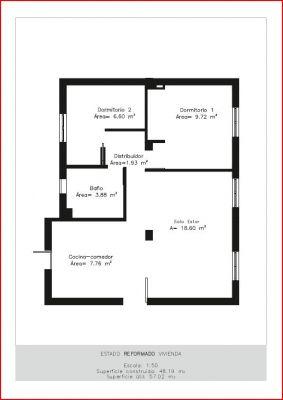 Presupuesto para reforma piso de 50 m cuadrados en madrid - Piso de 60 metros cuadrados ...