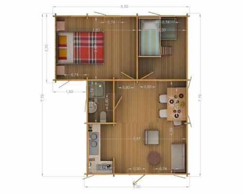 Presupuesto para instalaci n el ctrica casa de madera de - Casas de 50 metros cuadrados ...